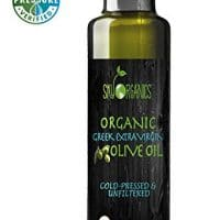 Organic Extra Virgin Olive Oil by Sky Organics 17oz - 100% Pure, Greek, Cold Pressed, Unfiltered, Non-GMO EVOO - Award Winning Best USDA Organic Olive Oil
