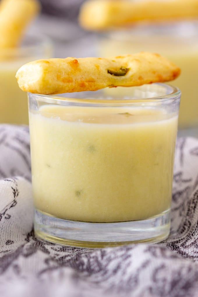 Potato Leek Soup Shooter Closeup