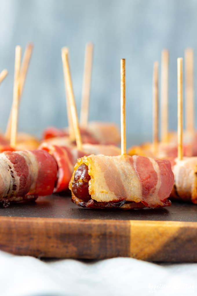 Bacon Wrapped Dates Closeup