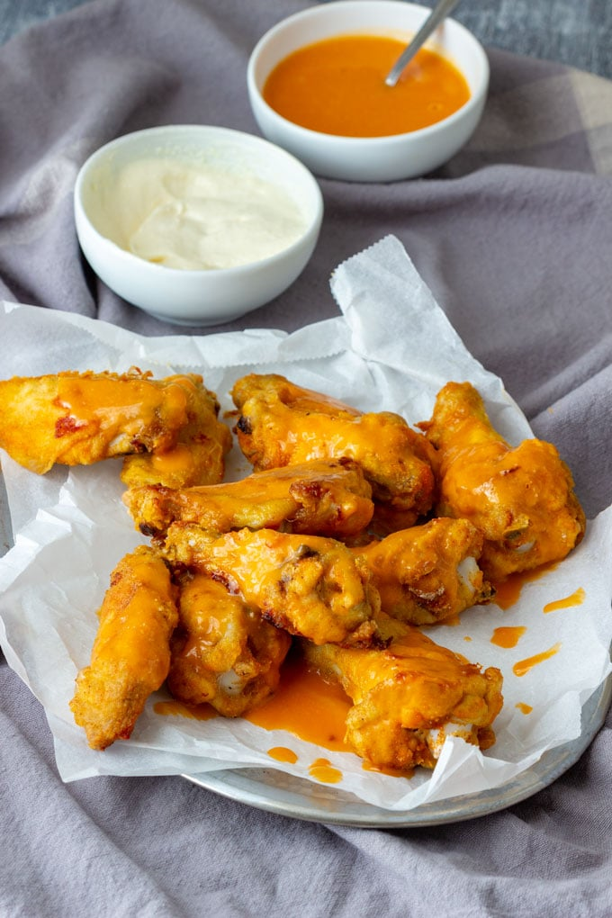 Homemade Baked Buffalo Chicken Wings