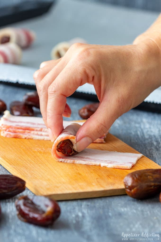 How to make Bacon Wrapped Dates Step 1