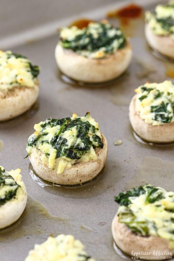 How to make Spinach Feta Stuffed Mushrooms Step 4