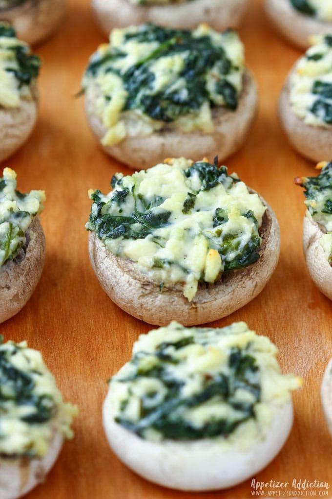 How to make Spinach Feta Stuffed Mushrooms Step 5
