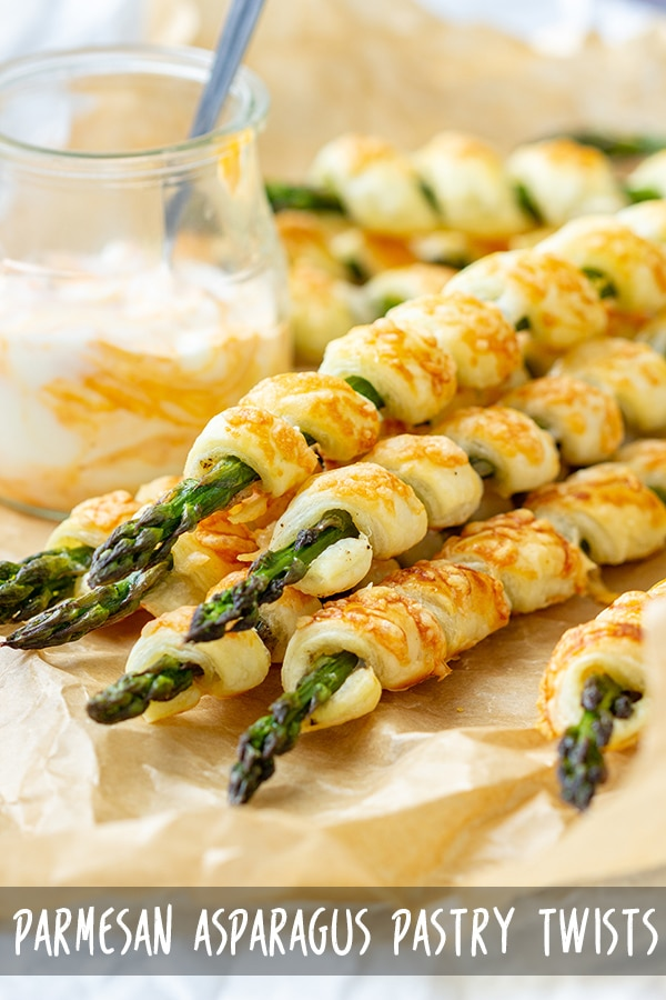 Parmesan Asparagus Pastry Twists Recipe