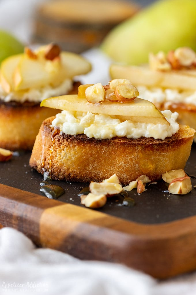 Pear and Goat Cheese Crostini