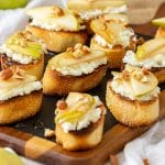Pear and Goat Cheese Crostini Appetizers