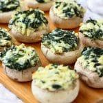 Spinach Feta Stuffed Mushrooms Recipe