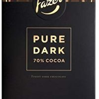 2 Bars x 95g of Fazer Pure Original Finnish Dark Chocolate 70% Cocoa (Suomi)