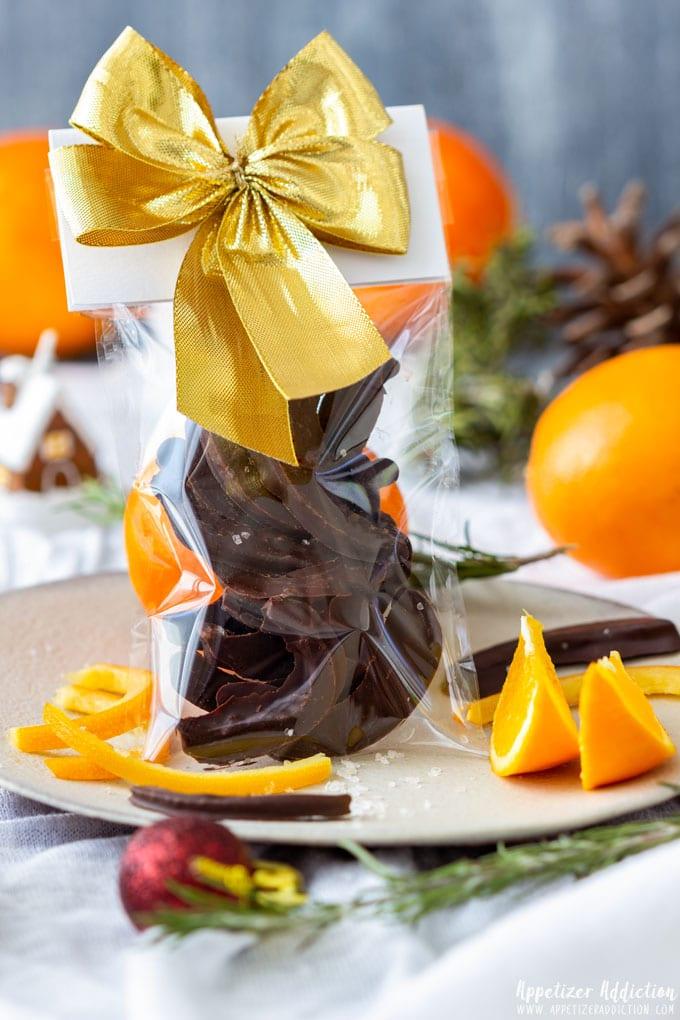 Chocolate Covered Orange Peel Gift