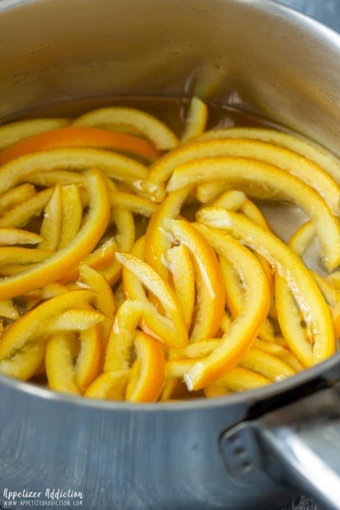 How to make Chocolate Covered Orange Peels Step 3
