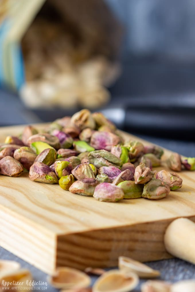Pistachios for Goat Cheese Log