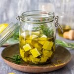 Rosemary Marinated Feta Cheese
