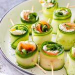 Smoked Salmon Cucumber Rolls Appetizers
