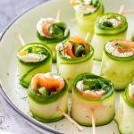 Smoked Salmon Cucumber Rolls