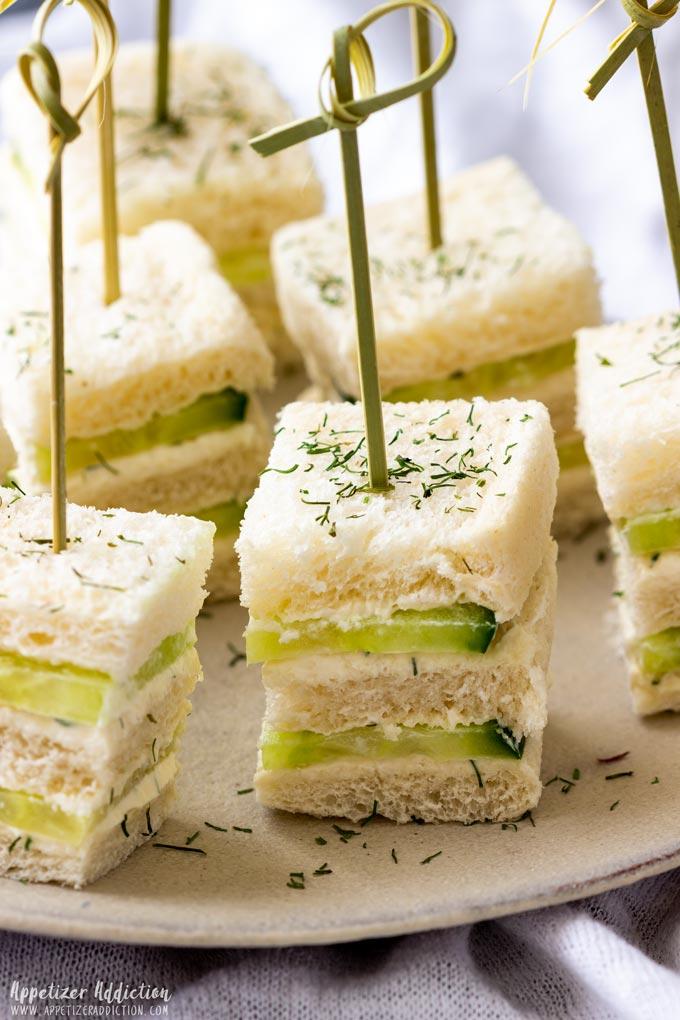 Bite-Sized Mini Cucumber Sandwiches