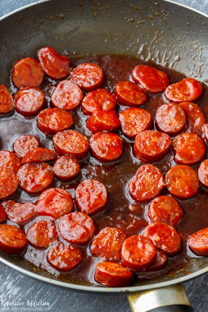 Frying Chorizo Slices