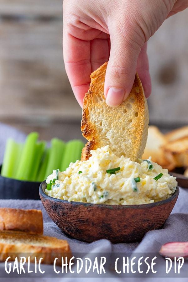 Garlic Cheddar Cheese Dip Recipe