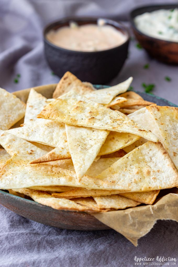 oven baked tortilla chips - appetizer addiction
