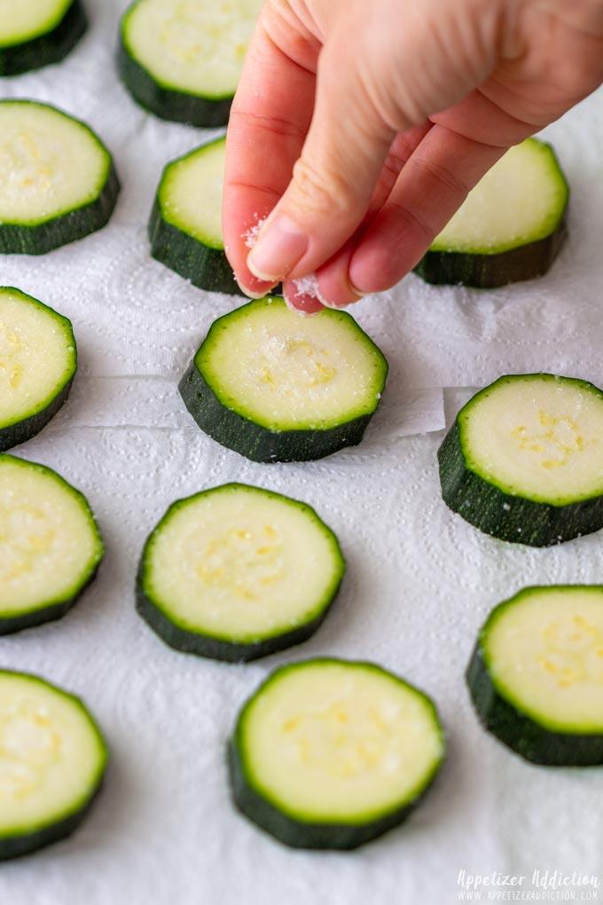 How to make Fried Zucchini Bites Step 1