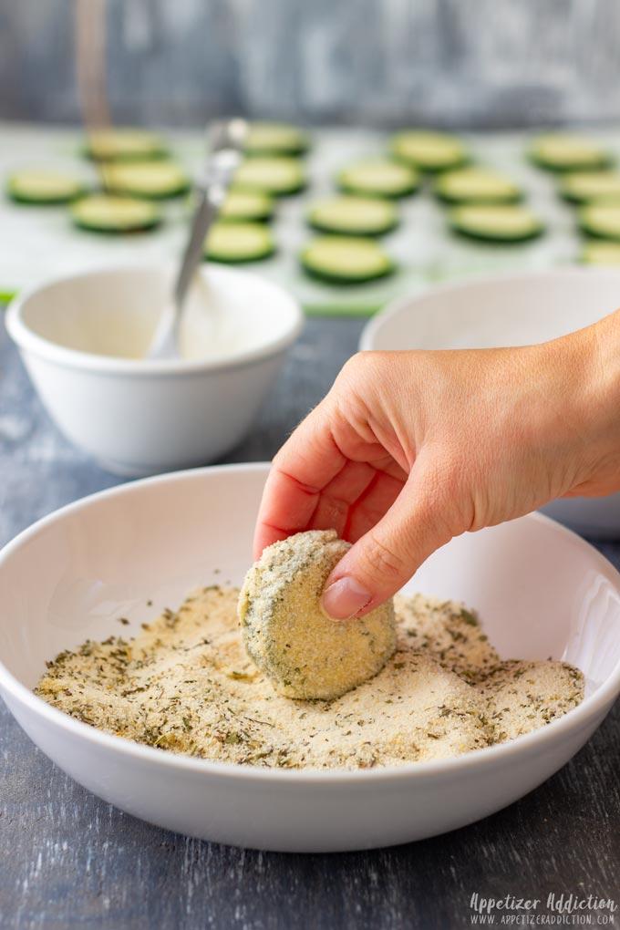 How to make Fried Zucchini Bites Step 2