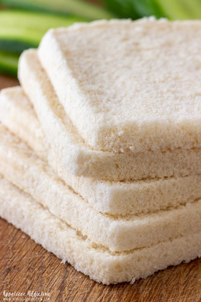 How to make Mini Cucumber Sandwiches Step 2