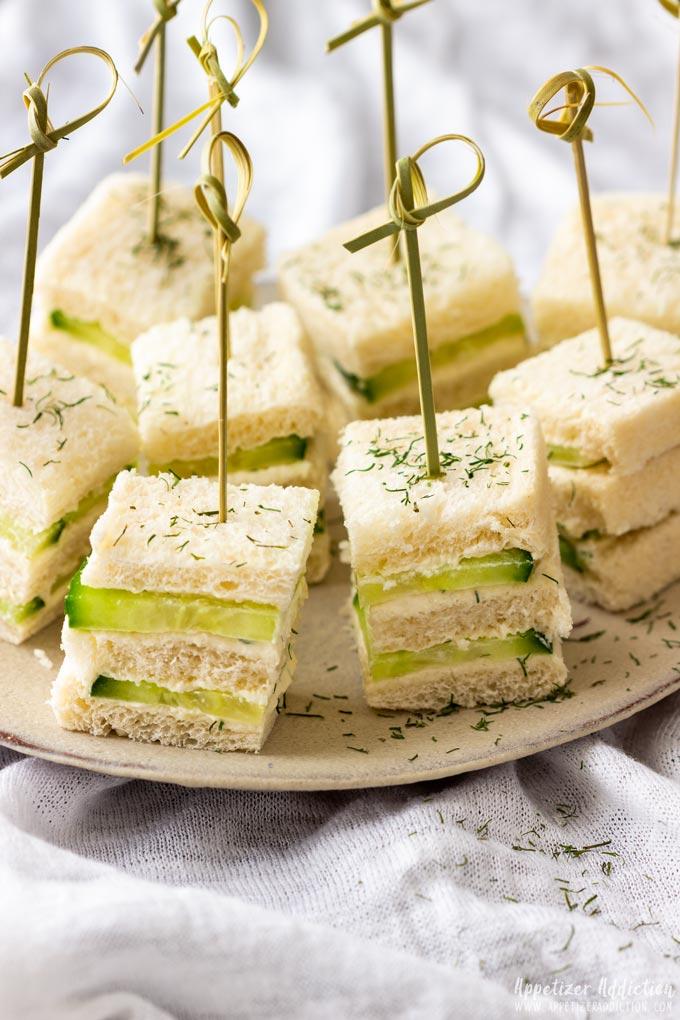 Mini Cucumber Sandwiches Appetizers