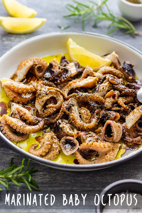 Marinated Baby Octopus Appetizer Recipe