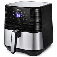 Innsky Air Fryer XL, 5.8QT 1700W, 7 Cooking Presets, LED, Nonstick Basket, ETL Listed (32 Recipe book)