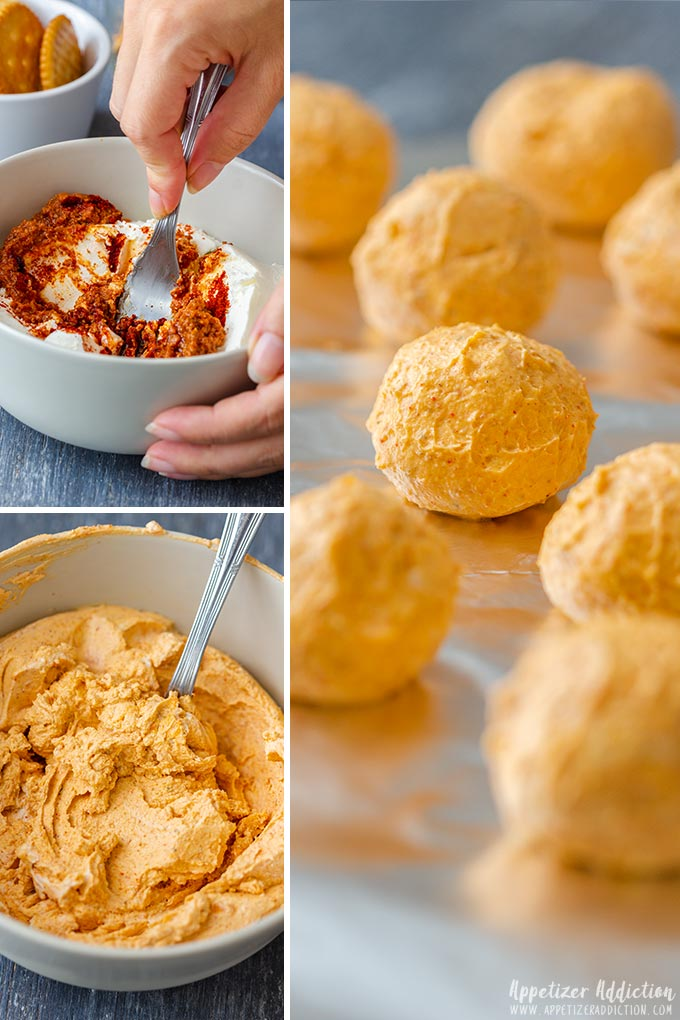 How to make Mini Pumpkin Cheese Balls Collage