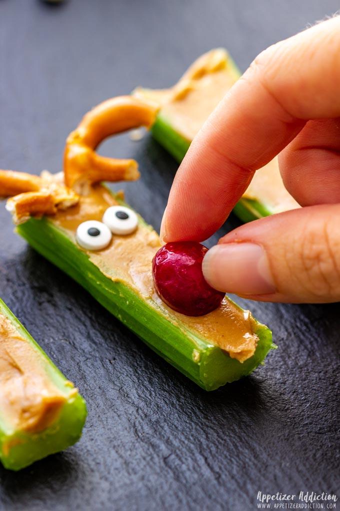 How to make Rudolph Celery Snacks Step 3