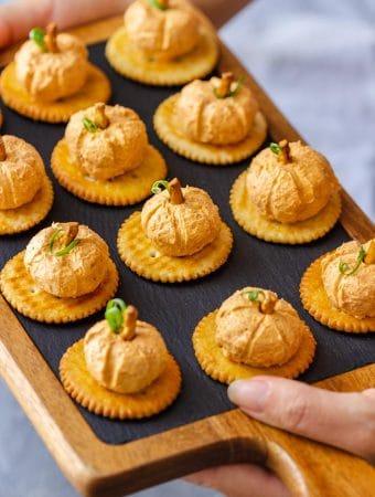 Mini Pumpkin Cheese Balls