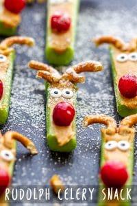 Rudolph Celery Snacks Appetizers