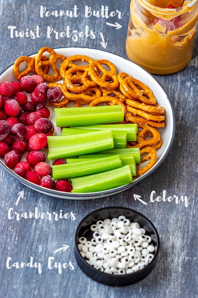 Rudolph Celery Snacks Ingredients