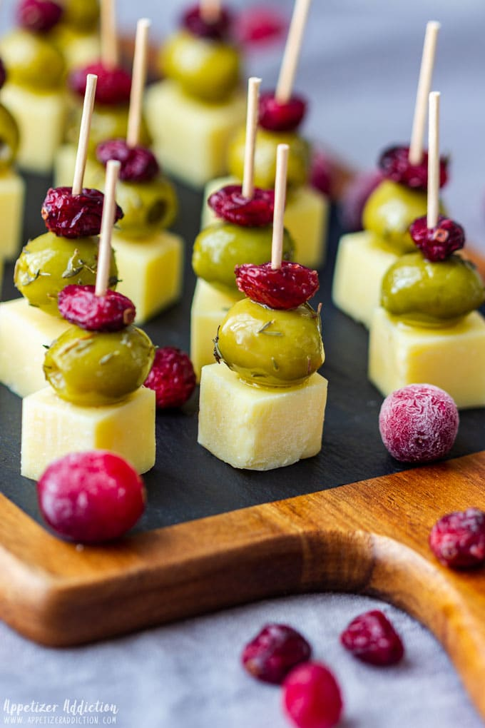 Cranberry Olive Cheese Skewers for Party