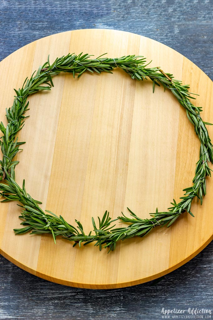 How to make Christmas Wreath Cheese Board Step 2