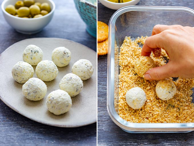 How to make Olive Stuffed Cheese Ball Bites Step 3