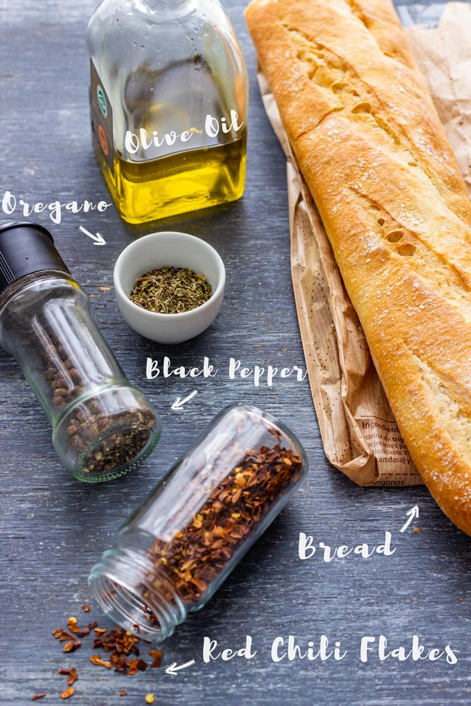 Ingredients Needed for Making Bread Dipping Oil