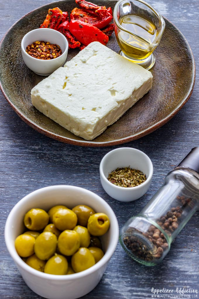 Ingredients You Need to Make Olive and Feta Shooters