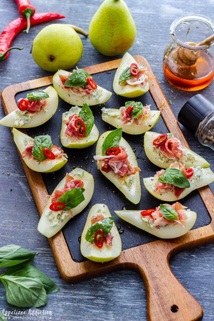 Pear Prosciutto Bite Size Appetizers