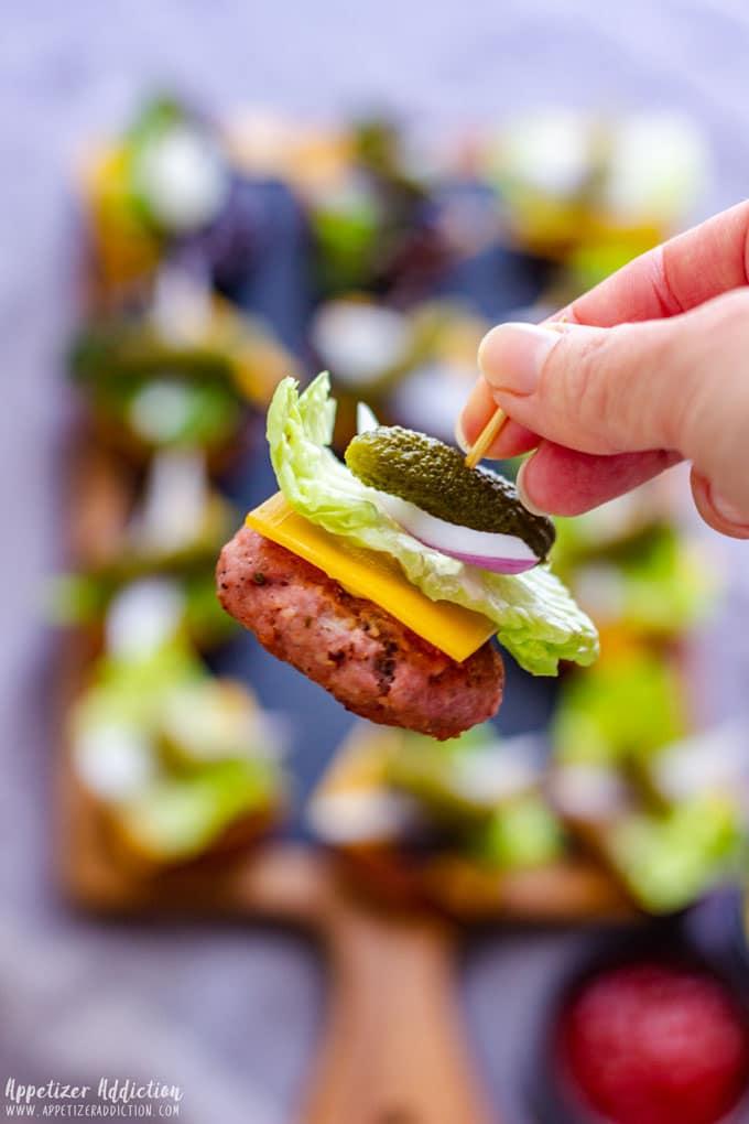 Burger Bites Appetizers