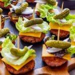 Bunless Cheeseburger Bites Pin