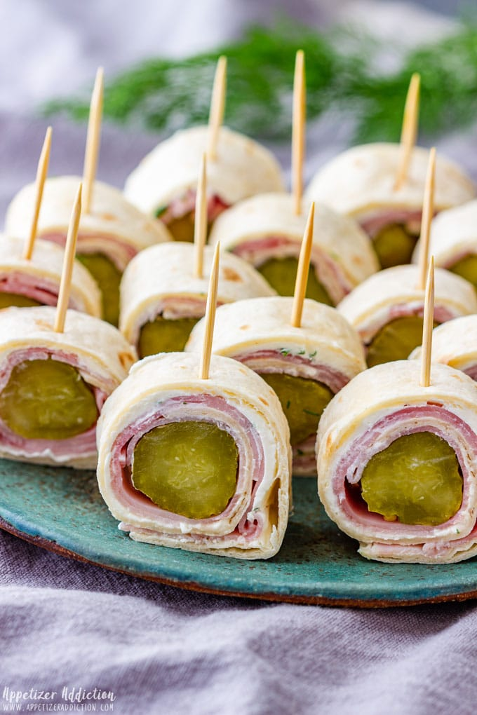 Ham and Cream Cheese Roll Ups with Pickles