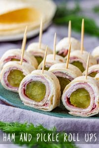 Ham and Pickle Roll Ups Pin