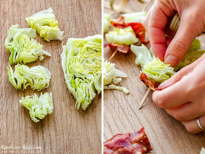 How to assemble Wedge Salad on a Stick