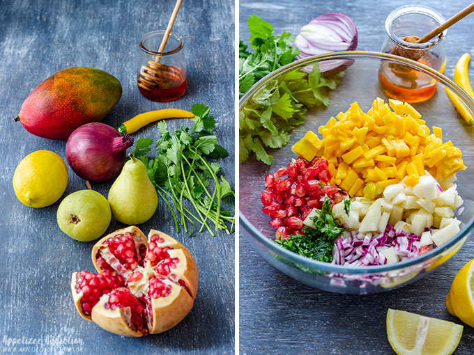Pear Pomegranate Salsa Ingredients