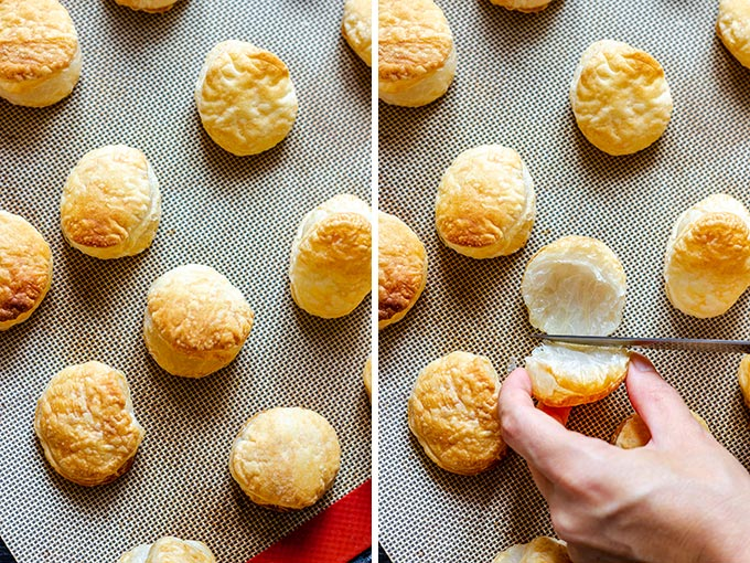 How to make Smoked Salmon Puffs Collage