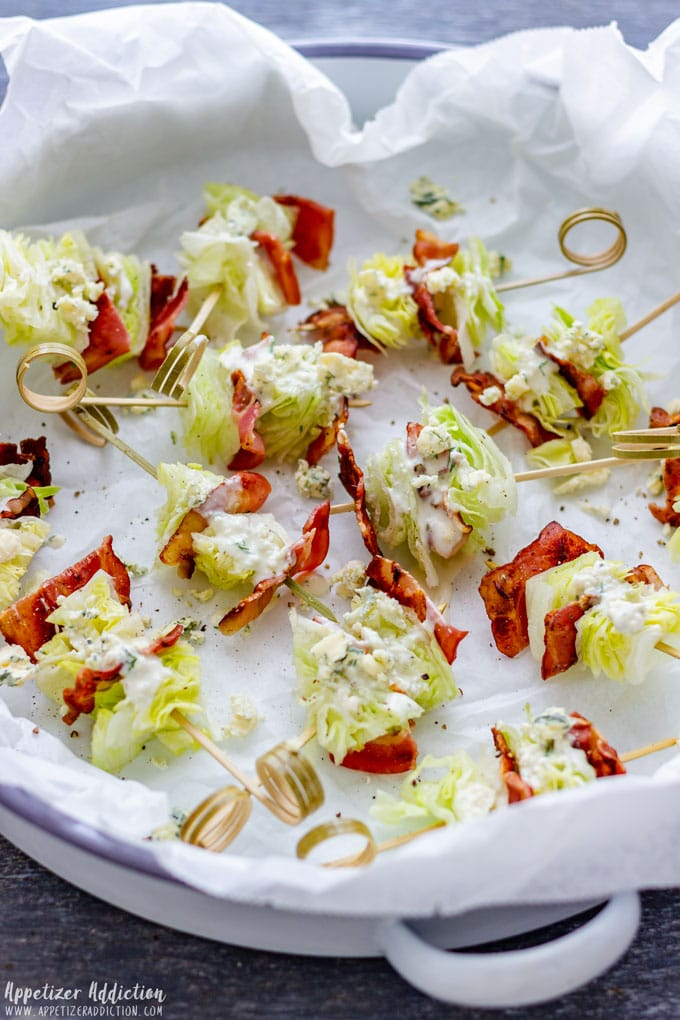 Wedge Salad Sticks Appetizers