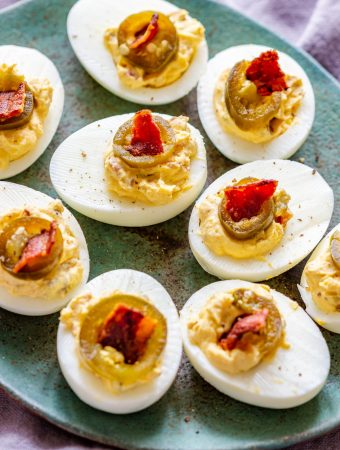 Homemade Bacon Jalapeno Deviled Eggs