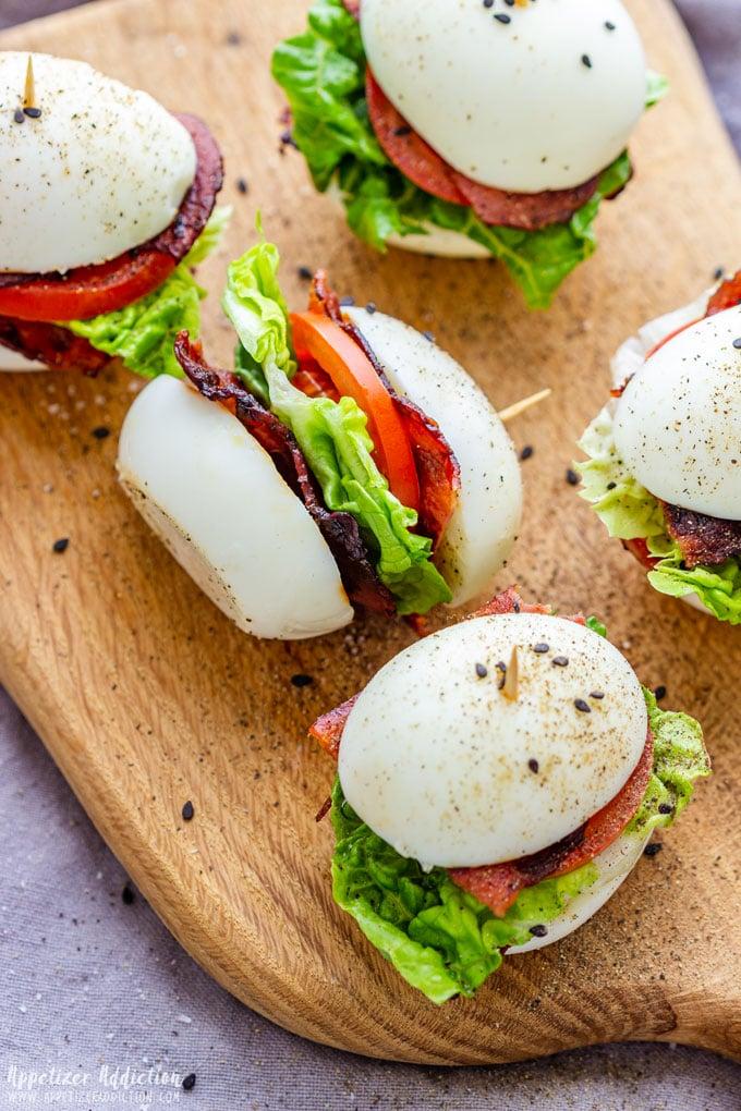 Bacon Lettuce Tomato Egg Sliders