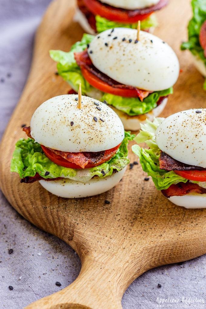 BLT Egg Sliders Appetizers